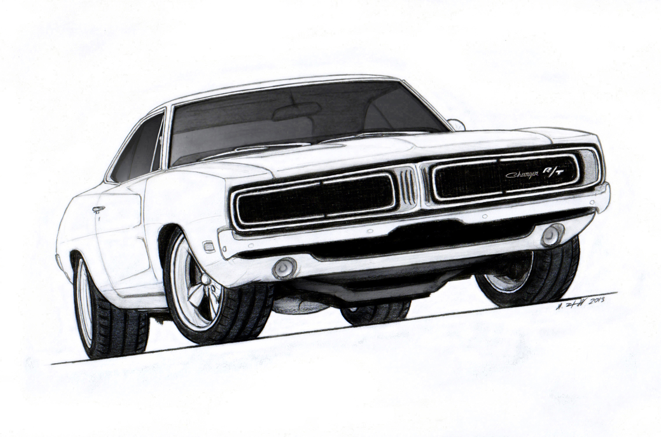 1968 1969 1970 Dodge Charger Clip Art