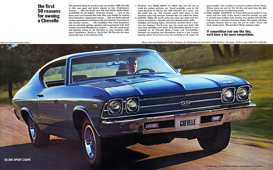 1970 Chevelle Ss Drawing