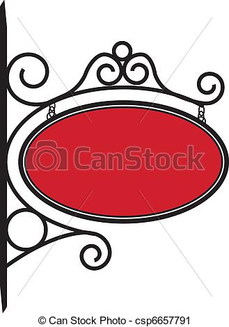Bistro Sign Decorated With Metal    Csp6657791   Search Clipart