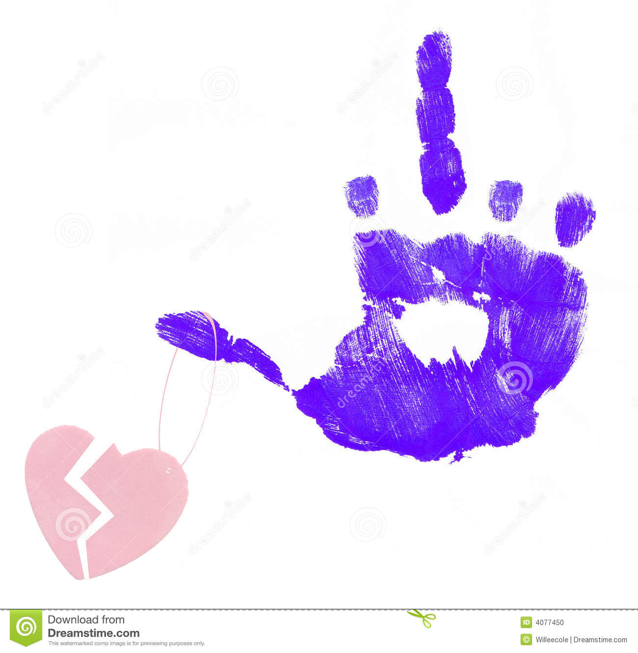 Broken Heart On Angry Finger Stock Photo   Image  4077450
