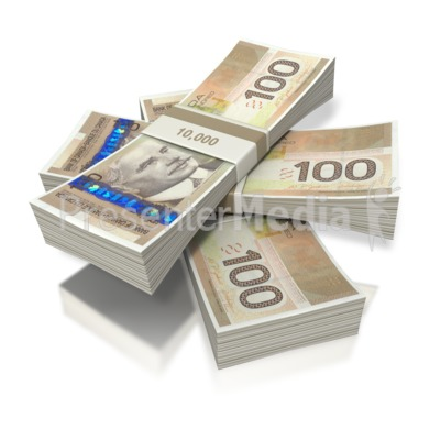 Canadian Money Three Bundles   Business And Finance   Great Clipart