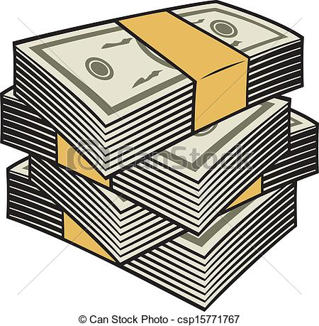 Clip Art Vector Of Big Stack Of Money Csp15771767   Search Clipart