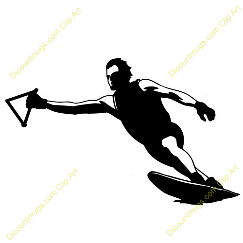 Clipart 14182 Wakeboarding   Wakeboarding Mugs T Shirts Picture