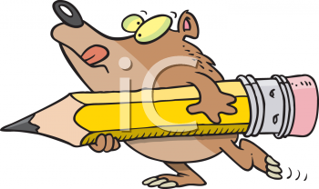 Clipart Net Cartoon Clipart Picture Of A Bear Holding A Giant Pencil