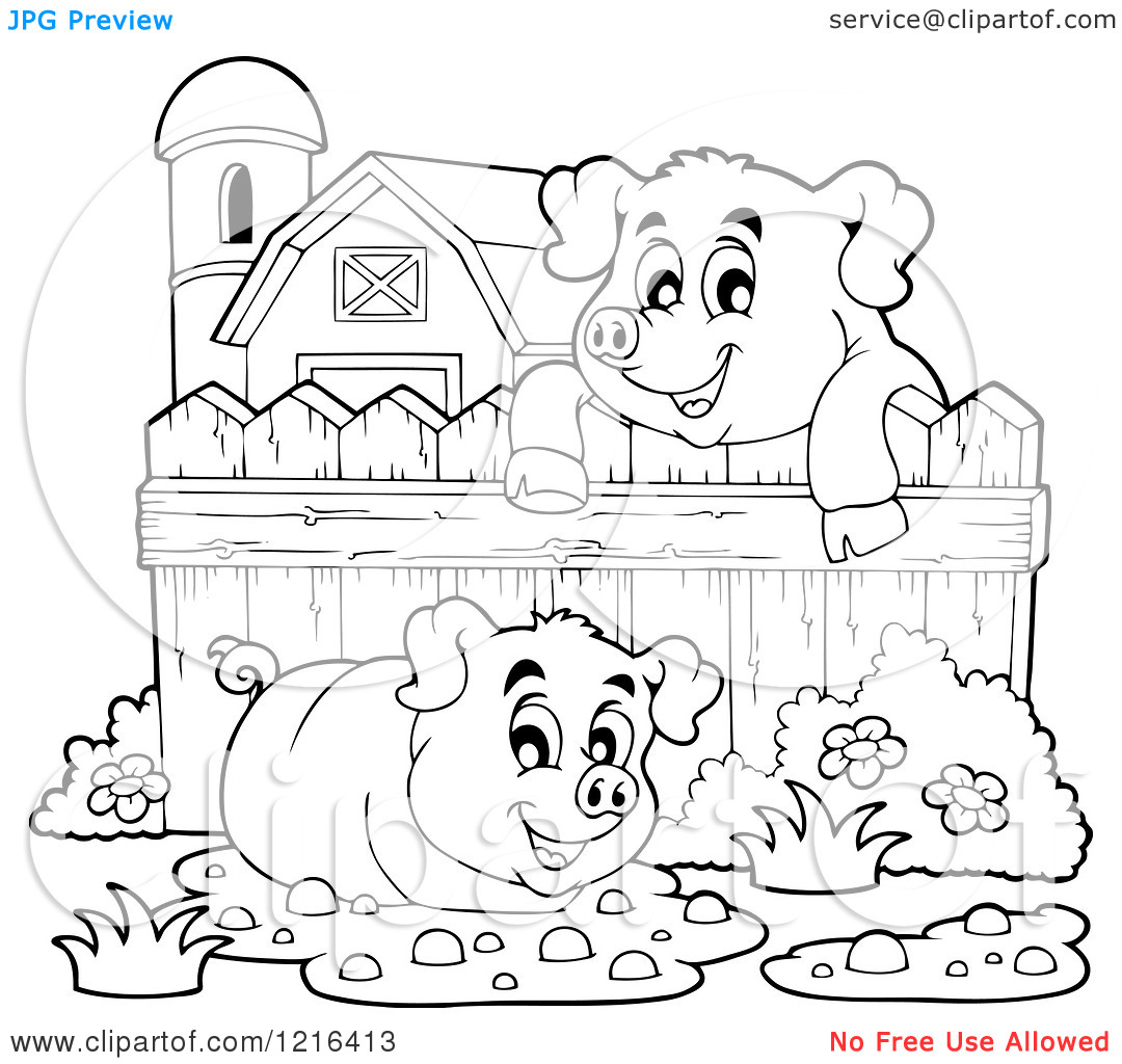 pig in mud coloring pages - photo#23