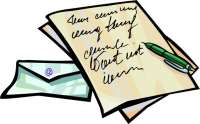 Clip Art Letter Clipart letter writing clipart kid december 7 is day fast becoming an