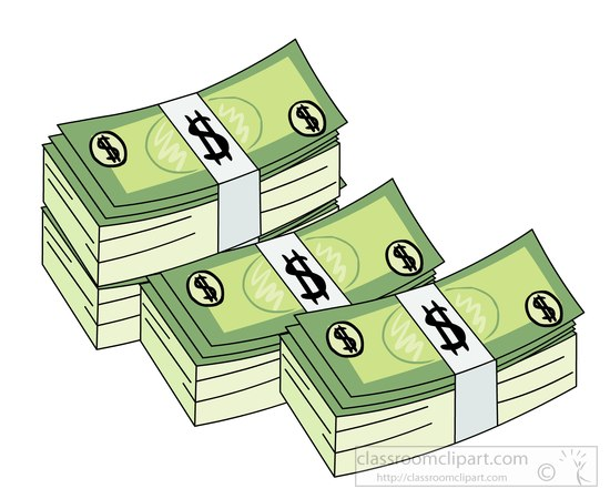 Download Banknotes Stack Of Money Clipart 617212