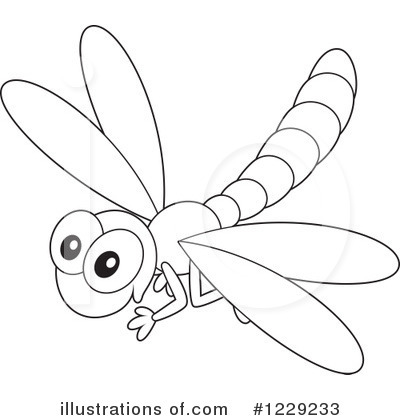 Dragonfly Outline Clipart - Clipart Kid