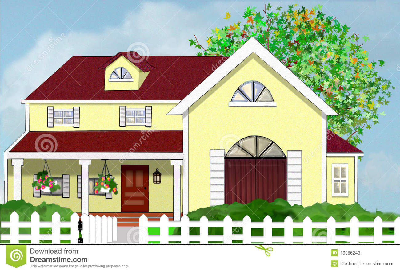Front Porch Clipart A Large Front Porch With A