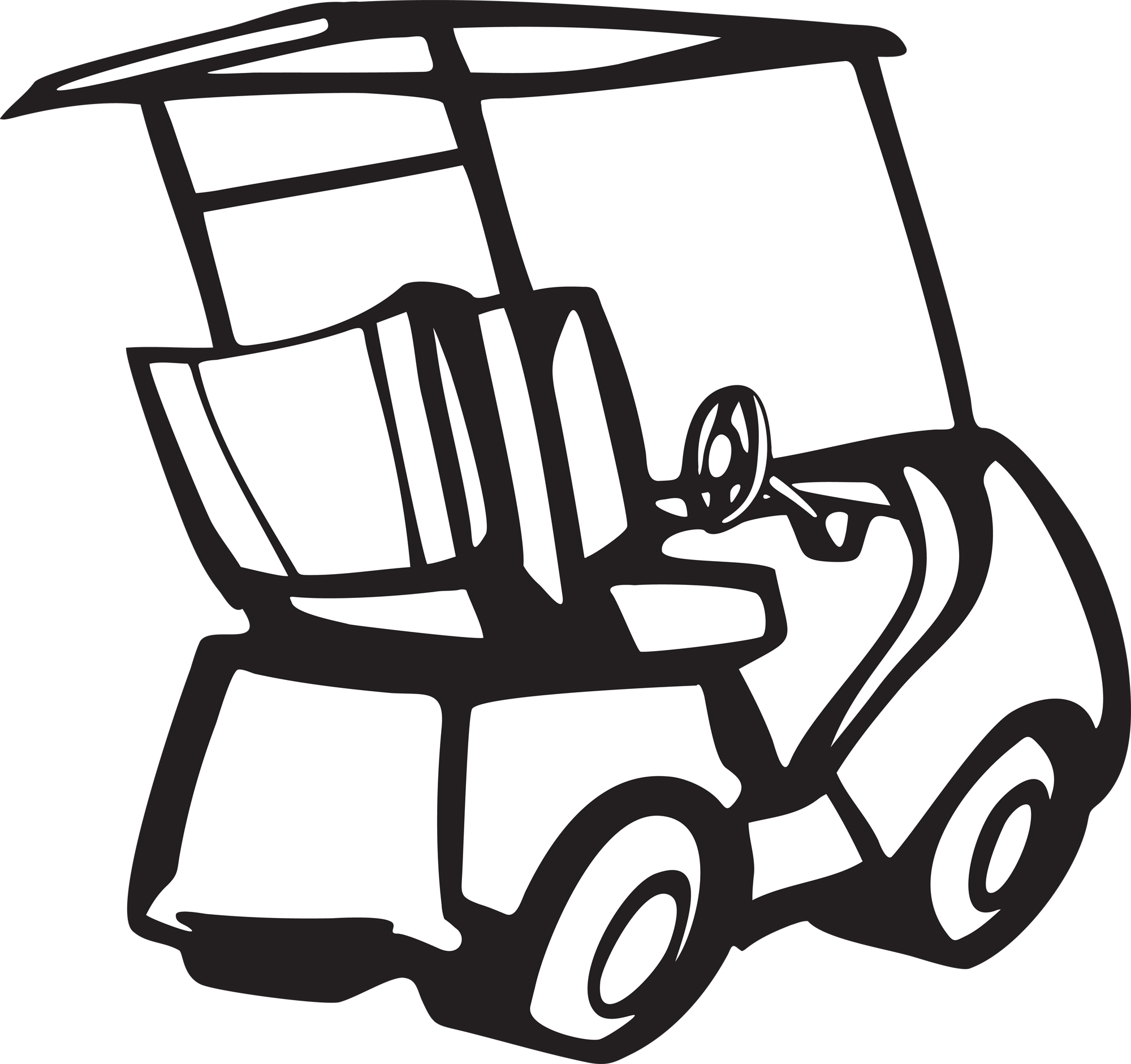 Golf Cart Clip Art Black And White   Clipart Panda   Free Clipart