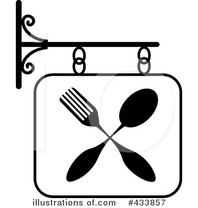 Royalty Free  Rf  Restaurant Sign Clipart Illustration By Pams Clipart