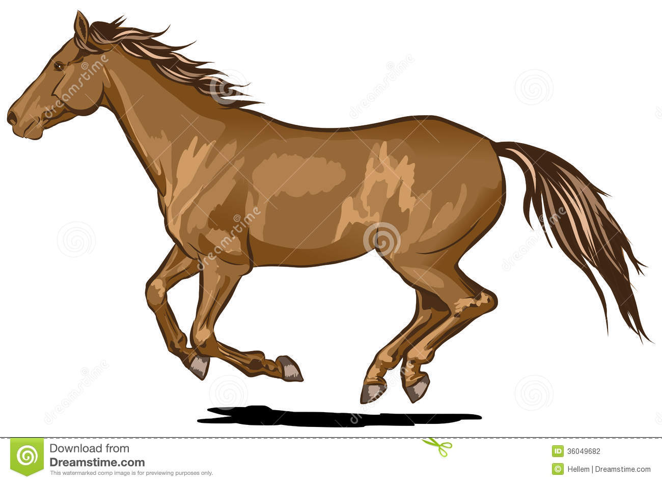Horse running clipart - photo#4