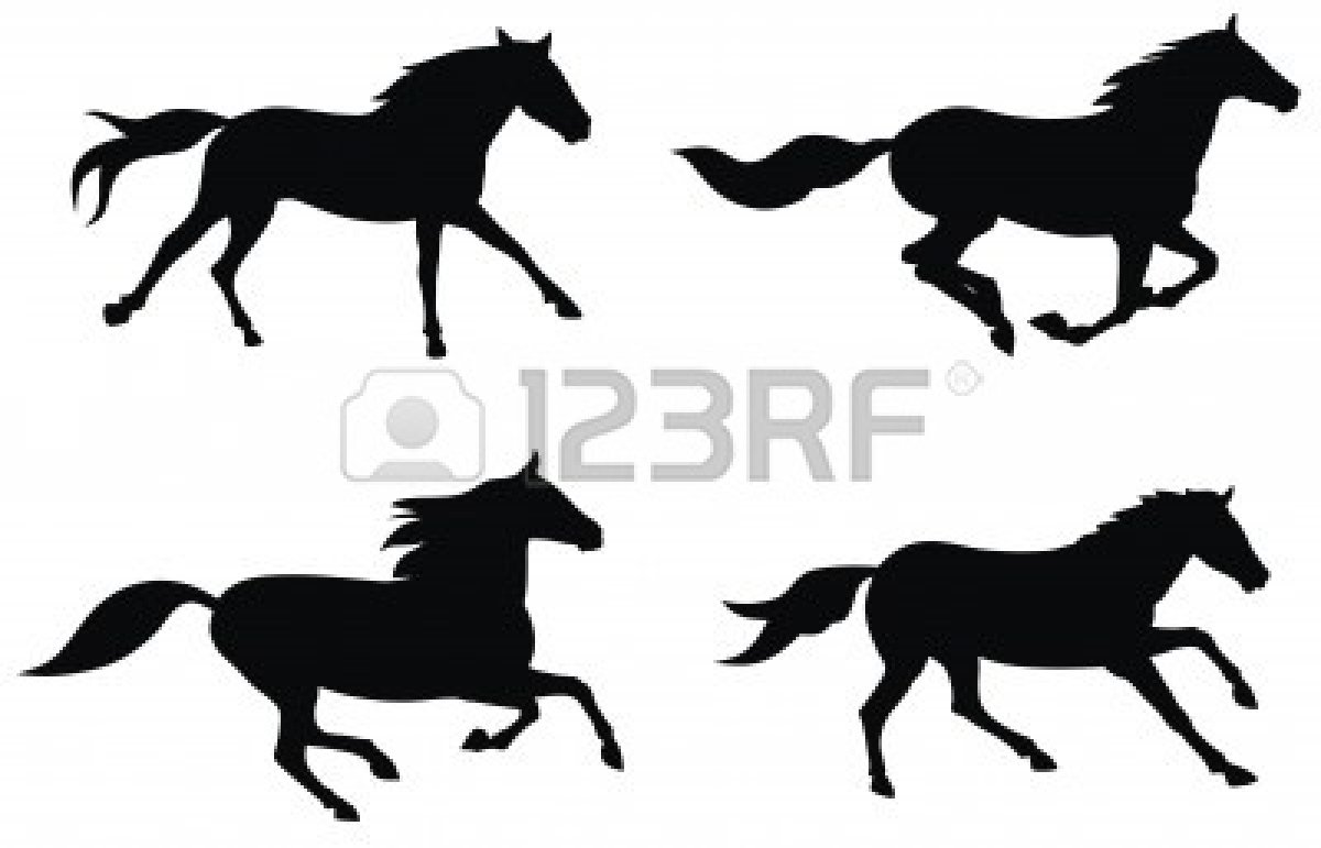 Horse running clipart - photo#11