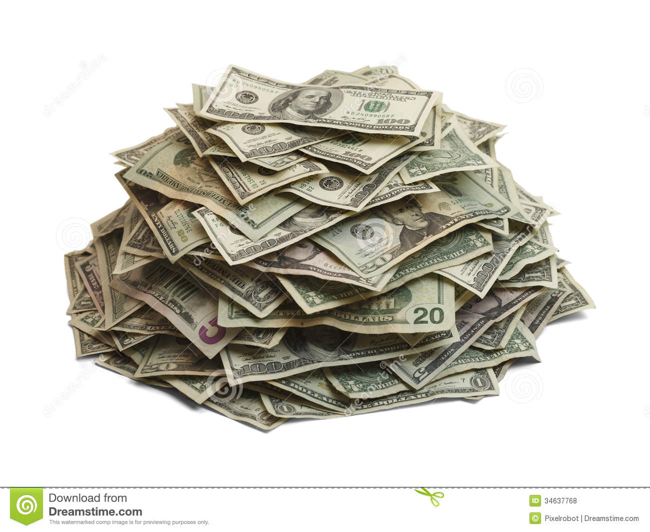 Stack Of Money Clipart Money Pile