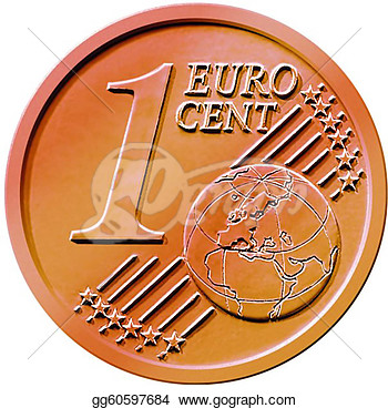 Stock Illustration   One  1  Cent Euro Coin  Clipart Illustrations