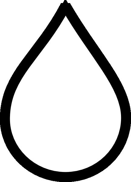 Black Raindrop Clip Art