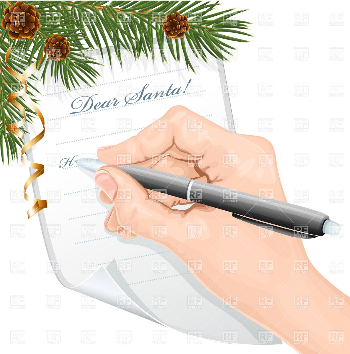 writing a letter clipart clipart kid writing letter to santa claus royalty vector clipart