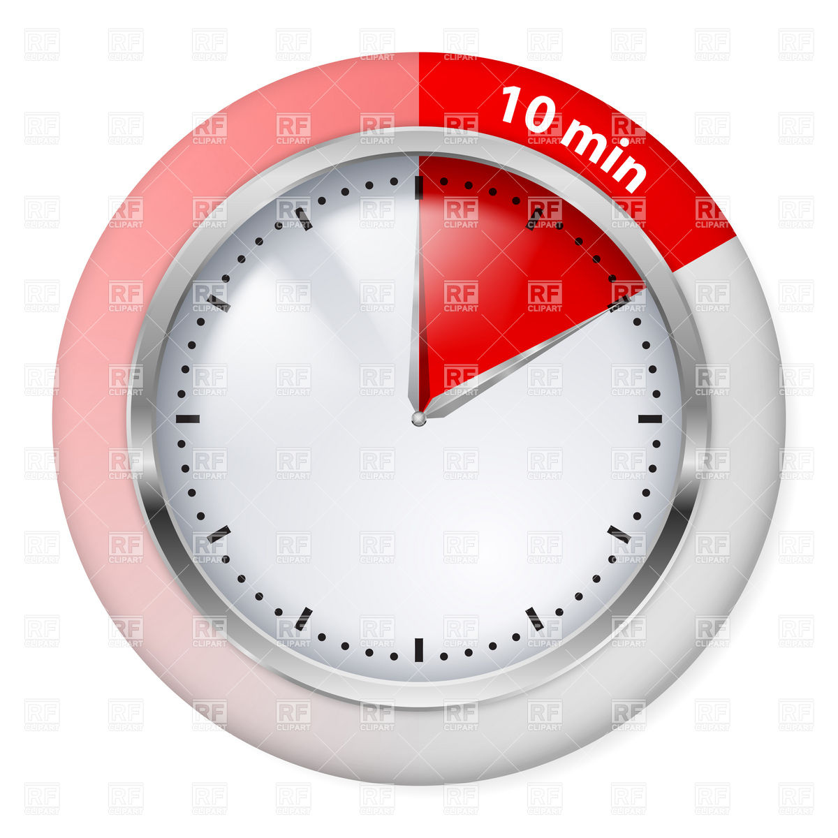 10 Minutes Red Timepiece Icon Download Royalty Free Vector Clipart