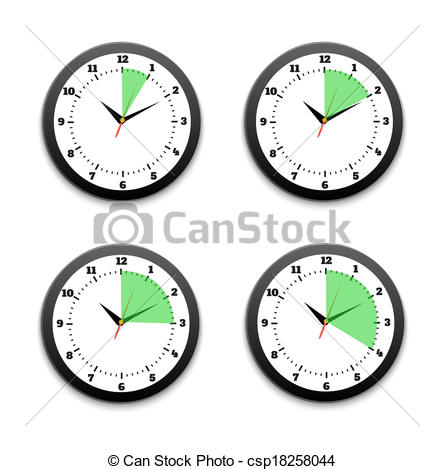 30 Minute Timer Clipart Black Clocks Icon Set  Set Of Timers  5 10