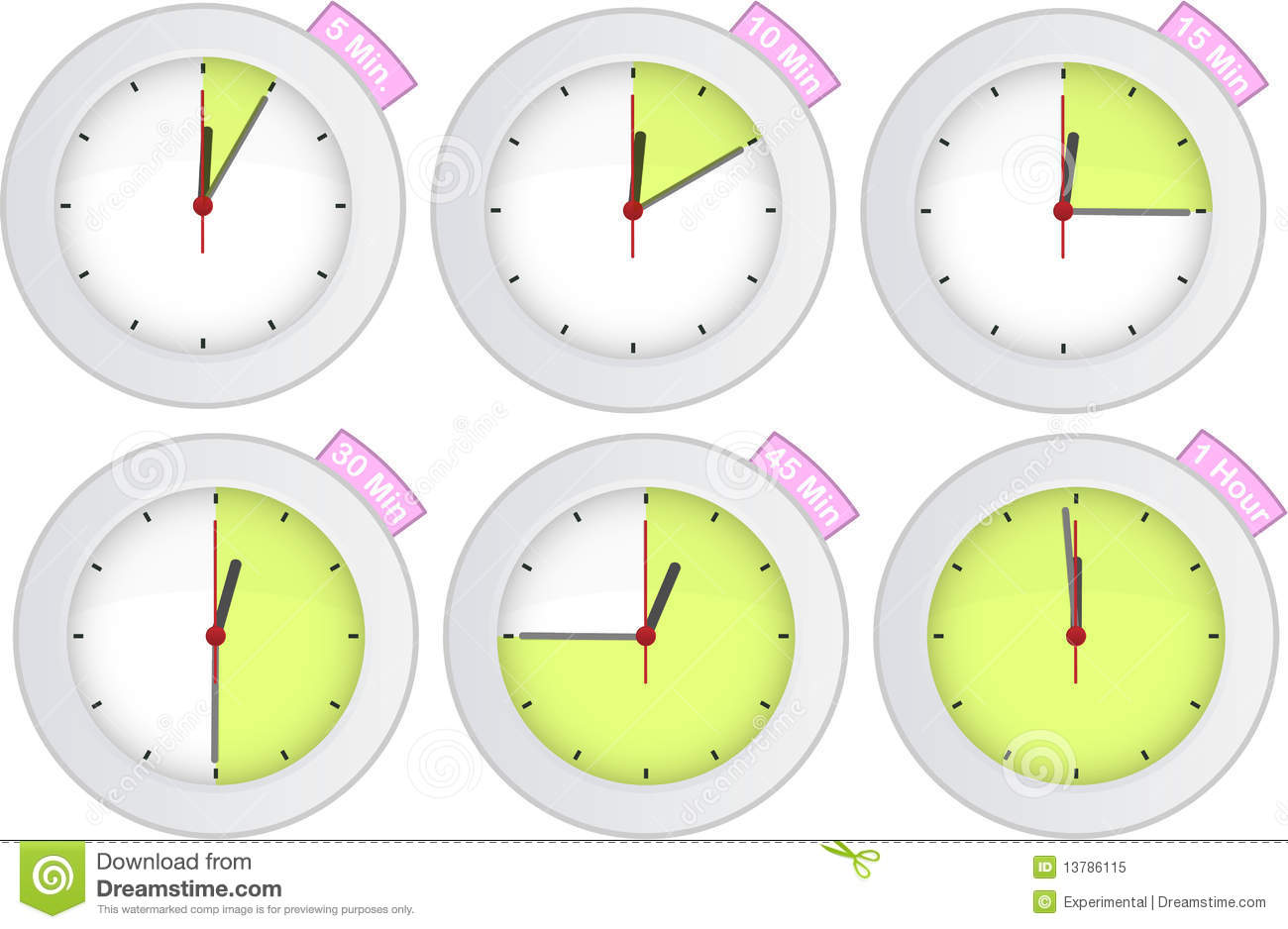 30 Minute Timer Clipart Timer Clock With 5 10 15 30 45