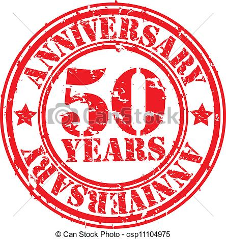 50 Years Anniversary Rubber Stamp Vector Csp11104975   Search Clipart