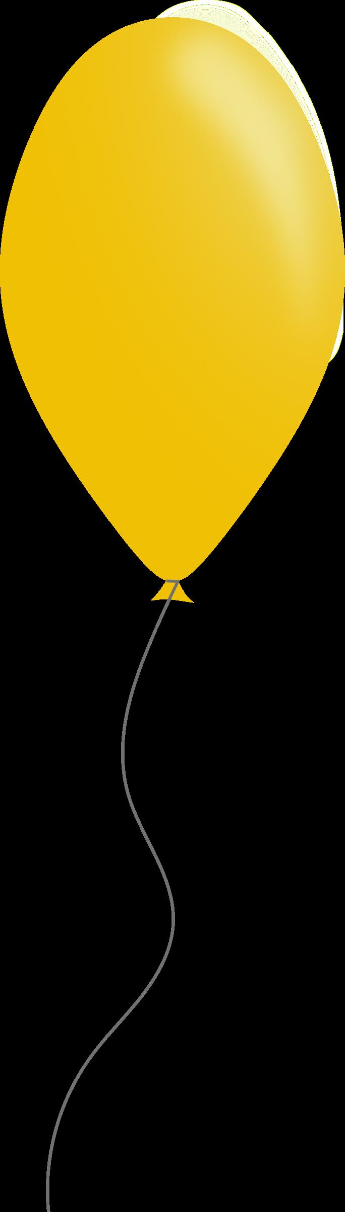 clipart yellow balloons - photo #33