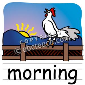 Clip Art  Basic Words  Morning