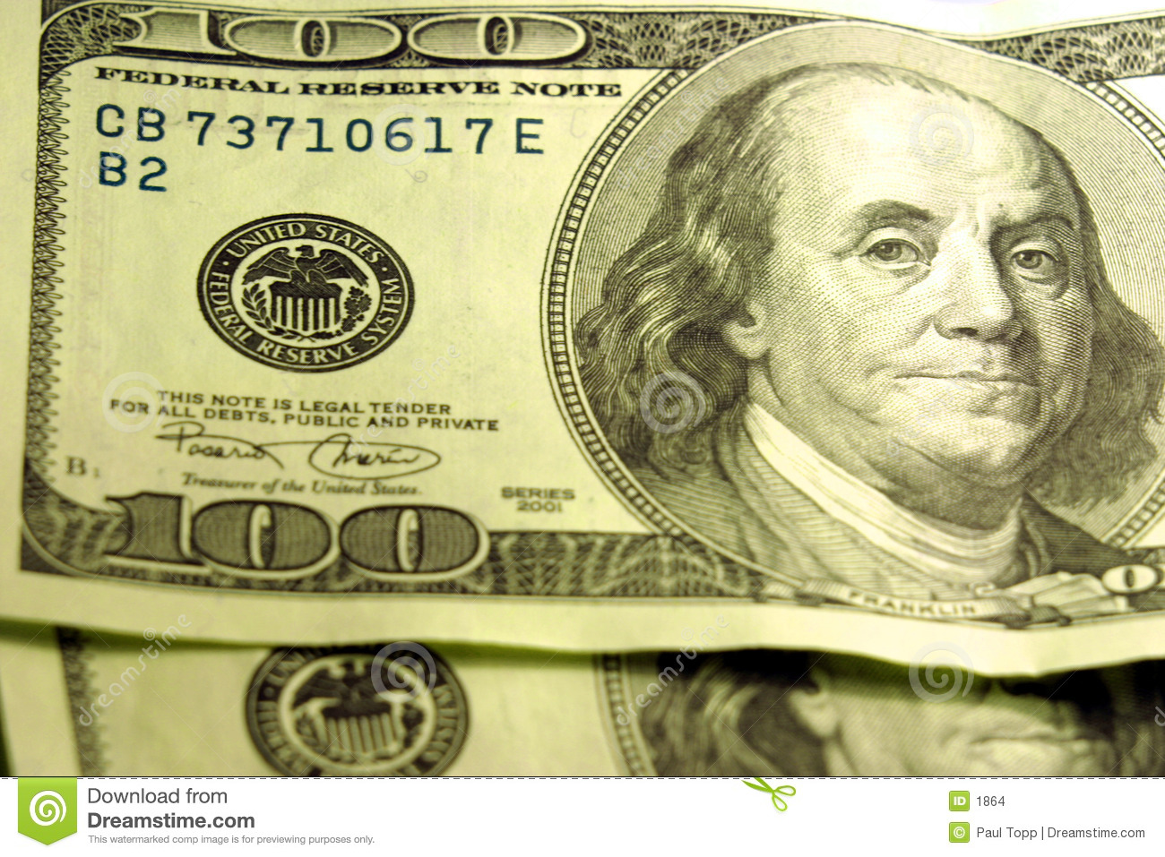Close Up Of  100 Bills Stock Images   Image  1864