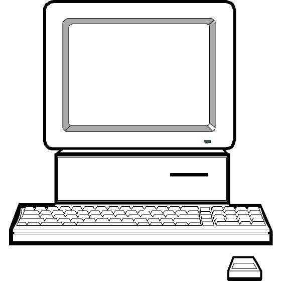 Computer Clipart Black And White   Clipart Panda   Free Clipart Images