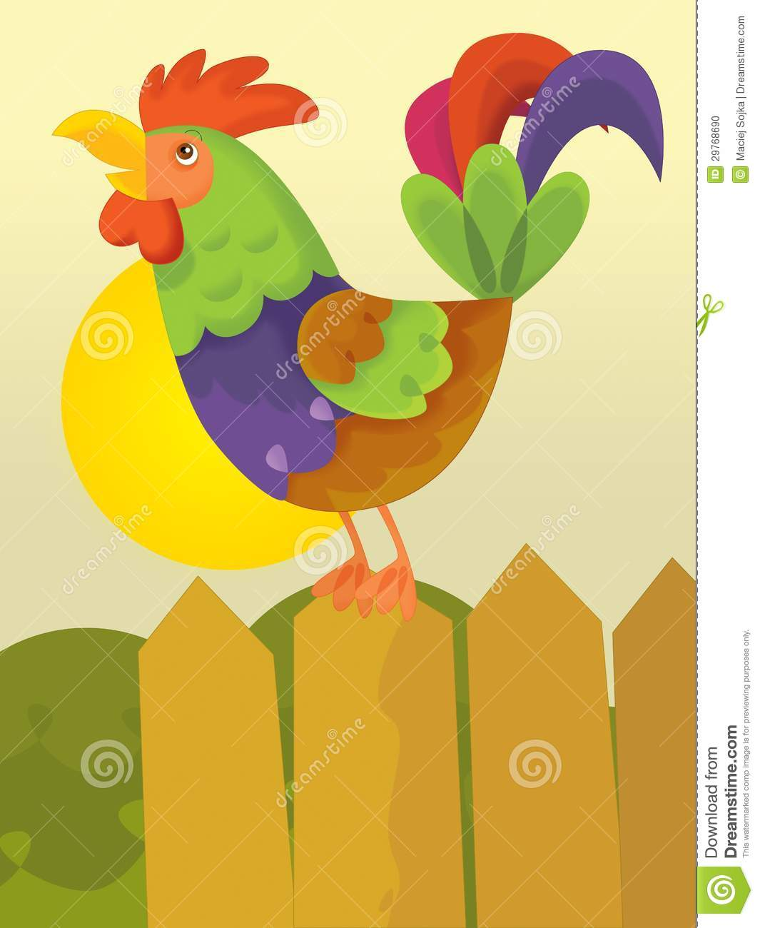 Cute Rooster Clipart  Rooster Crowing Clipart  Rooster Clipart