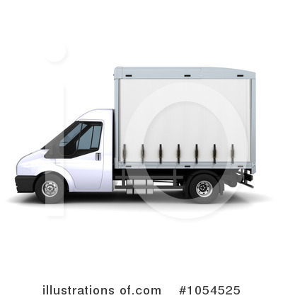 Delivery Van Clipart  1054525 By Kj Pargeter   Royalty Free  Rf  Stock