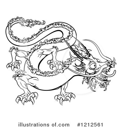Dragon Clipart  1212561 By Geo Images   Royalty Free  Rf  Stock