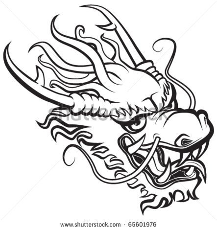 Oriental Dragon Outline Clipart - Clipart Kid