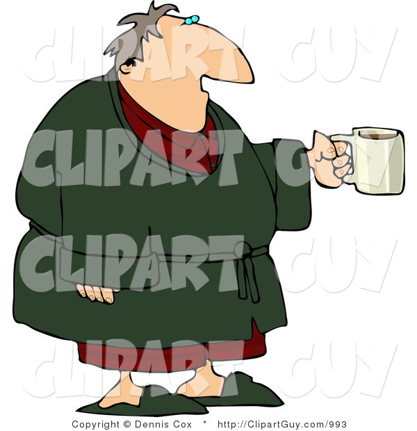 Early Morning Of His Day Guy Clip Art Dennis Cox
