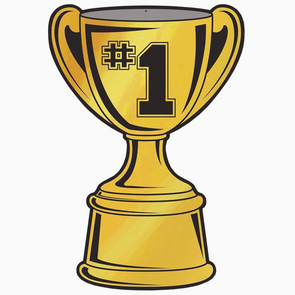 Foil Trophy Cup Cut Out   Peeks