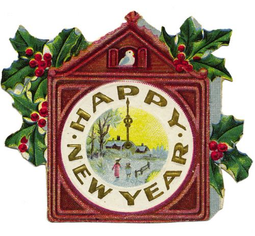 Vintage New Year's Clipart - Clipart Suggest