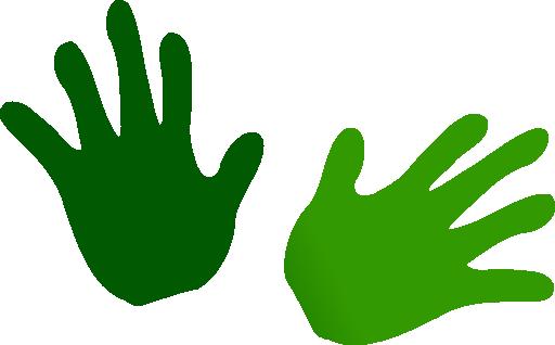 2 Hands Clipart - Clipart Kid