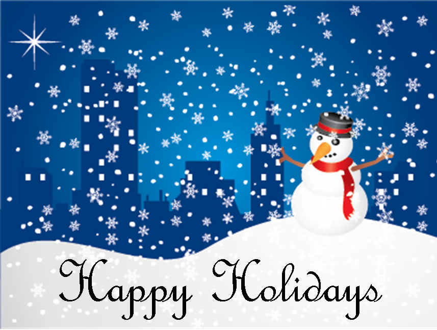 Happy Holidays And Happy New Year Greeting Cards
