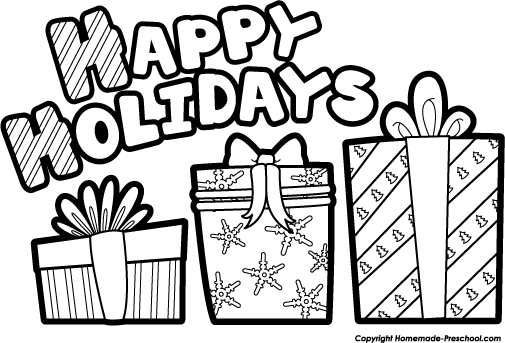 Christmas Happy Holidays Clipart - Clipart Kid