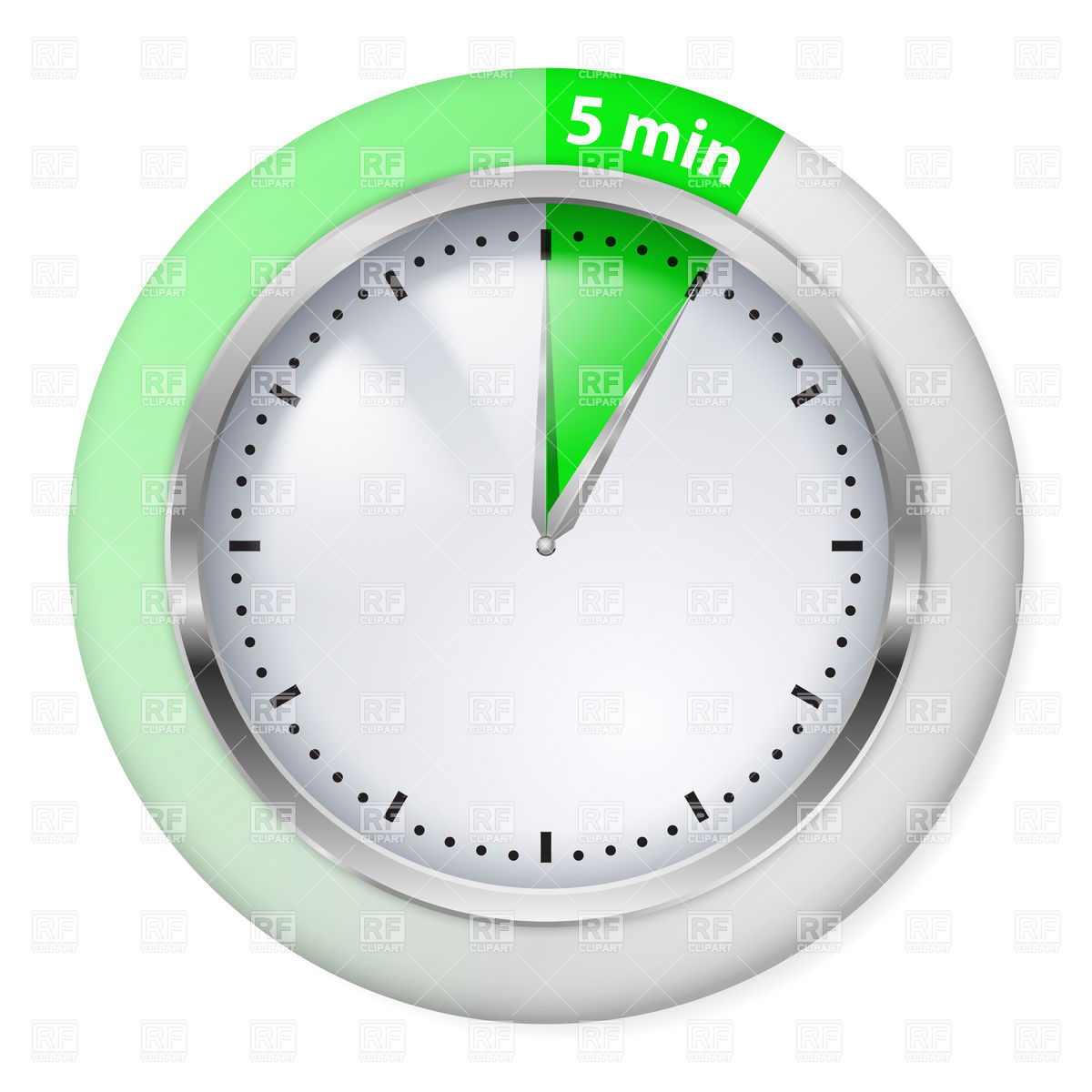 Minutes Green Timer Icon Vector