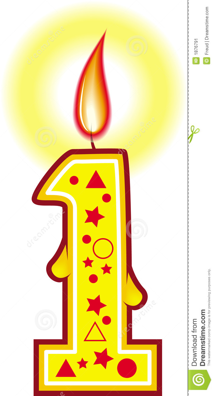 Number One Candle Clipart   Clipart Panda   Free Clipart Images