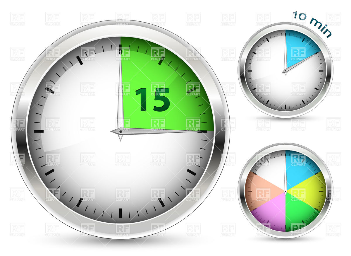 Set Of Clock Timers 6007 Objects Download Royalty Free Vector Clip