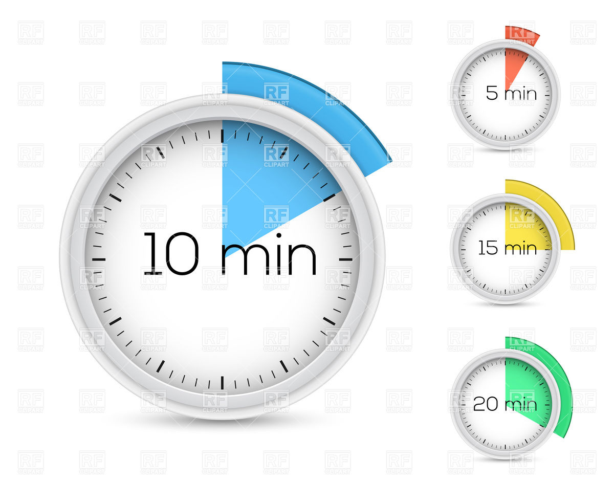 Set Of Timers For 5 10 15 And 20 Minutes 16362 Objects Download