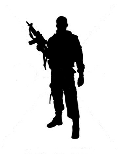 Silhouette Of Soldier   Free Images At Clker Com   Vector Clip Art