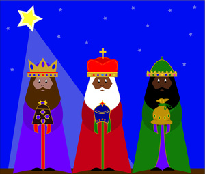 Three Kings Or 3 Wise Men With Gifts For The Christ Child 0515 1012