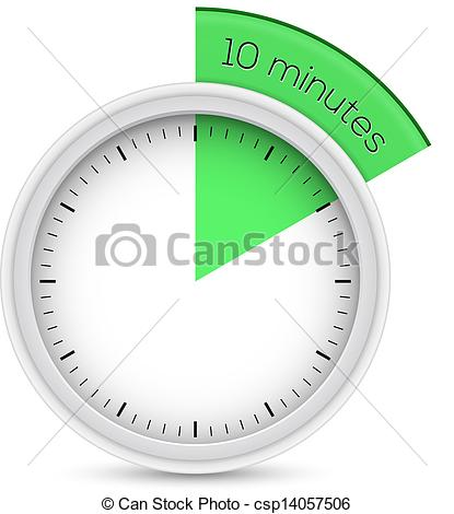 Vecteur   Stop Watch 10 Minutes Minuteur   Banque D Illustrations
