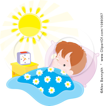 Waking Up In The Morning Clipart Morning