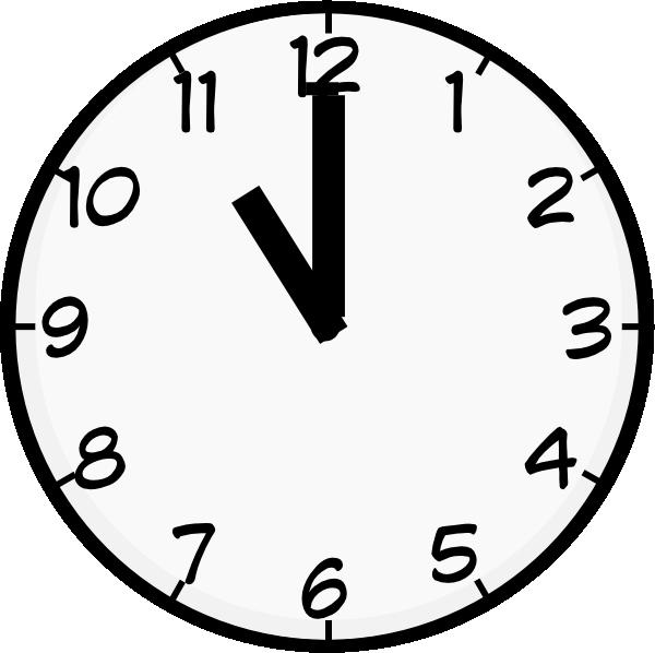 12 O'clock Clipart - Clipart Kid