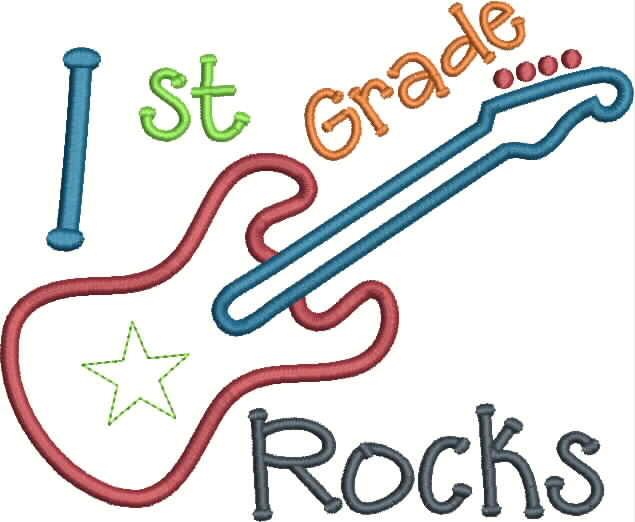 Clip Art First Grade Clipart 1 st grade clipart kid 1st rocks applique snap shot