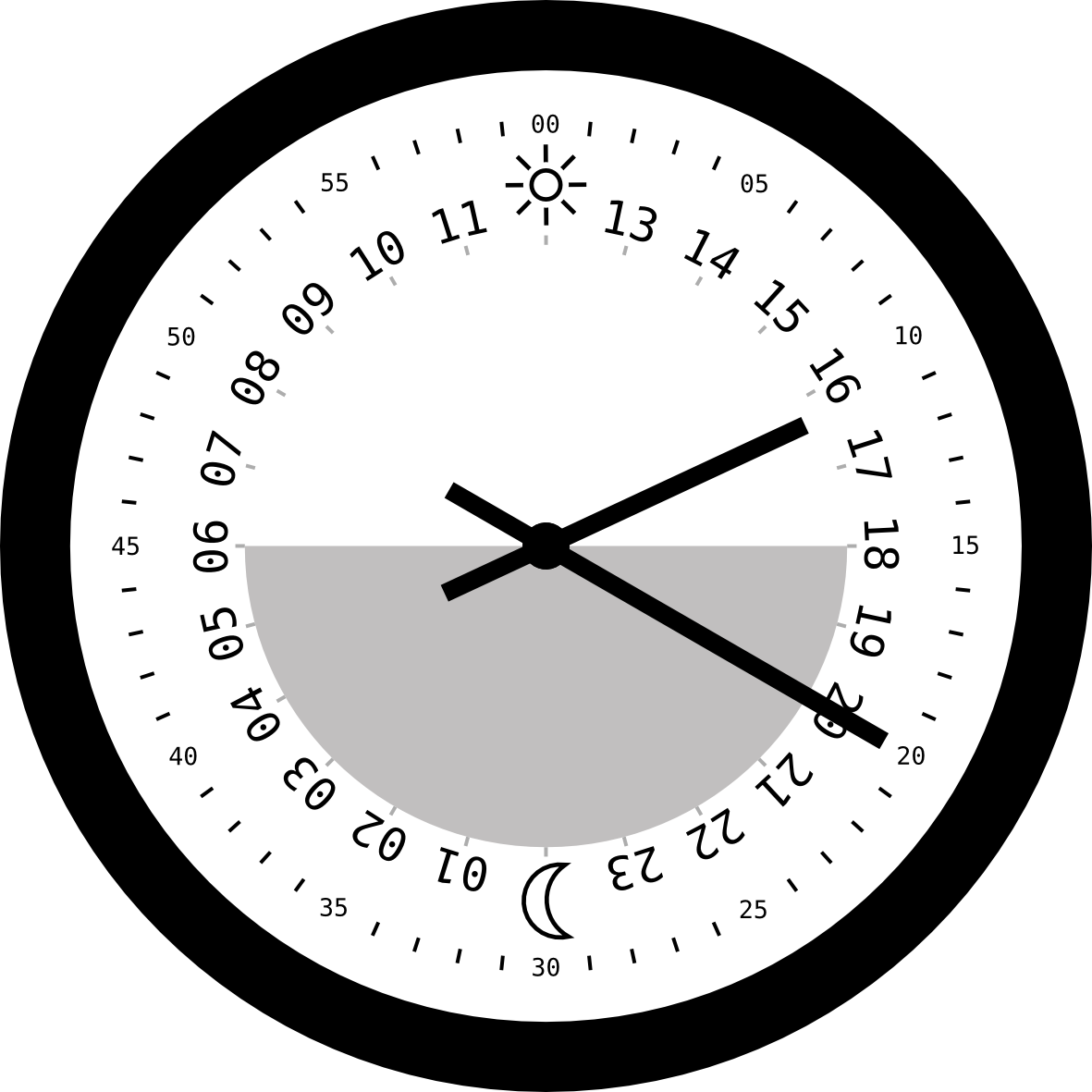 24 Hour Clock Clipart - Clipart Kid